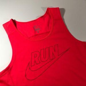 Nike Red Run Tank Top Small